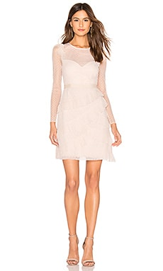 Pleated Tulle Mini Dress BCBGMAXAZRIA $368