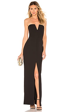Strapless High Slit Gown BCBGMAXAZRIA $378