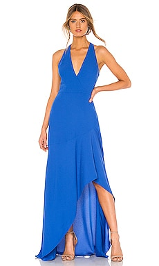 High Low Halter Gown BCBGMAXAZRIA $298