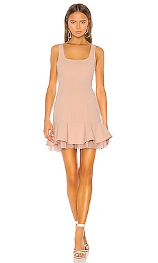 Flounce Hem Mini Dress BCBGMAXAZRIA $278 NEW ARRIVAL