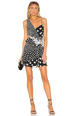 Polka Dot Cut Out Dress BCBGMAXAZRIA $318