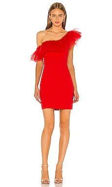 One Shoulder Mini Dress BCBGMAXAZRIA $268 NEW ARRIVAL