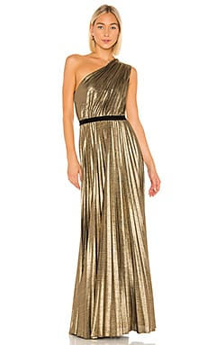 Pleat Gown BCBGMAXAZRIA $398