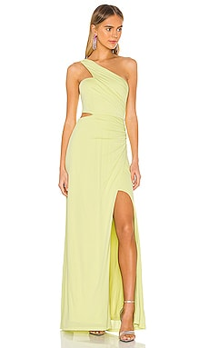 One Shoulder Cut Out Gown BCBGMAXAZRIA $271