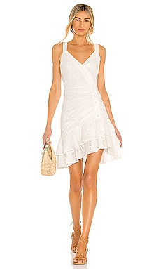 Ruffle Hem Mini Dress BCBGMAXAZRIA $248