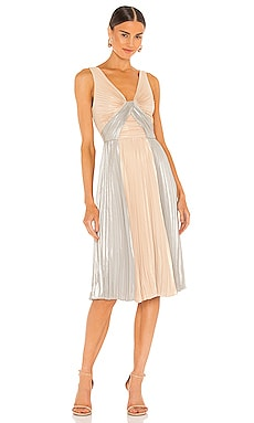 Pleated Mini Dress BCBGMAXAZRIA $328