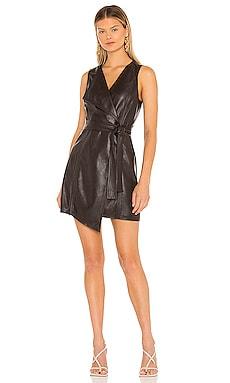 Leather Mini Dress BCBGMAXAZRIA $268
