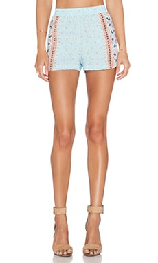 BCBGMAXAZRIA Isaac Short in Blue Breeze Combo