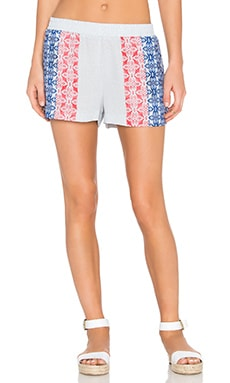 Pattern Short en Multicolore Bleu Cobalt