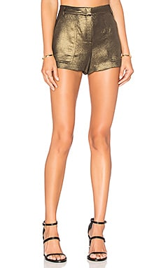 BCBGMAXAZRIA Camryn Short in Black & Gold
