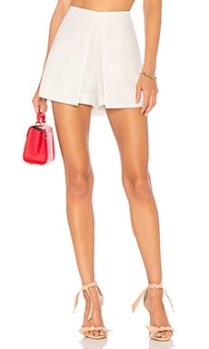 Chintz Overlap Skort in White. - size L (also in M,S,XS) Bcbgmaxazria