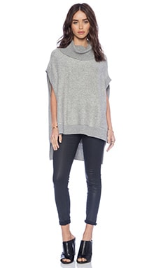 BCBGMAXAZRIA Elinor Sweater in Heather Grey