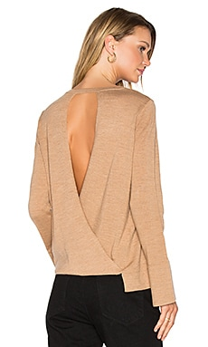 Open Back Sweater in Camel