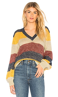 Striped Metallic Mohair Pullover BCBGMAXAZRIA $90