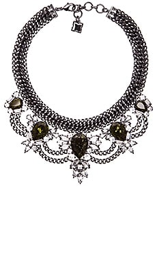 BCBGMAXAZRIA Teardrop Stone Statement Necklace in Hematite