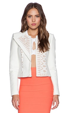 BCBGMAXAZRIA Floyd Jacket in Off White