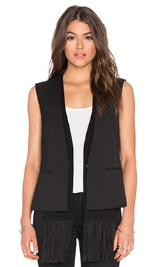 Jared Sleeveless Blazer in Black