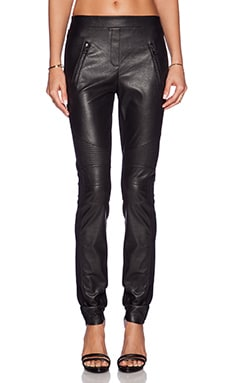 BCBGMAXAZRIA Moto Pants in Black