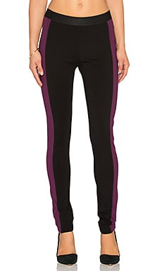 BCBGMAXAZRIA Dexter Blocked Legging in Black & Deep Port