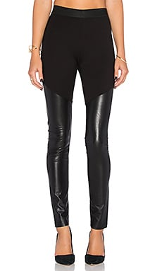 BCBGMAXAZRIA Francisco Faux Leather Legging in Black