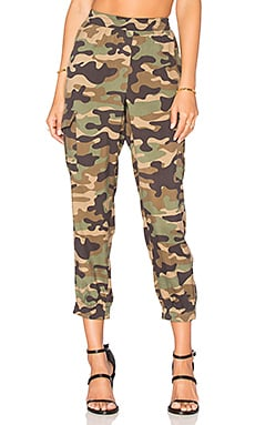 BCBGMAXAZRIA Cargo Jogger in Dark Fatigue Combo