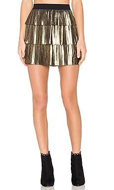 Zana Skirt in Gold & Black