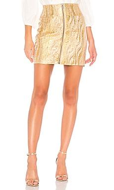 Фото - Юбку мини - BCBGMAXAZRIA цвет металлический золотой