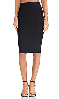 Leger Pencil Skirt en Noir