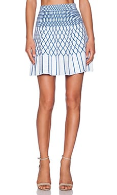 BCBGMAXAZRIA Marleia Mini Skirt in White Combo