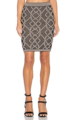 BCBGMAXAZRIA Pavel Skirt in Black Combo