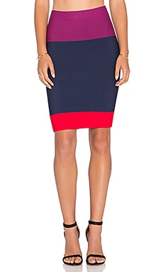 BCBGMAXAZRIA Scarlett Skirt in Port Combo