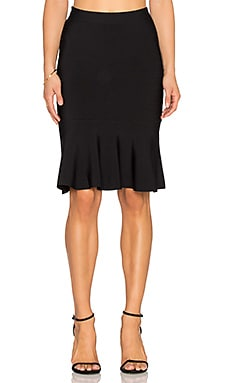 BCBGMAXAZRIA Sanya Flare Skirt in Black