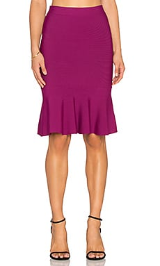 BCBGMAXAZRIA Sanya Flare Skirt in Port