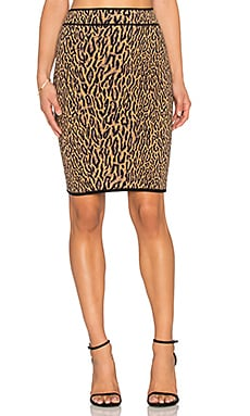 BCBGMAXAZRIA Pencil Skirt in Camel Combo