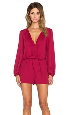 BCBGMAXAZRIA Nancie Romper in Ruby