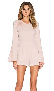 Bell Sleeve Romper in Bare Pink