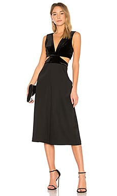 Olya jumpsuit with cutouts in black - BCBGMAXAZRIA