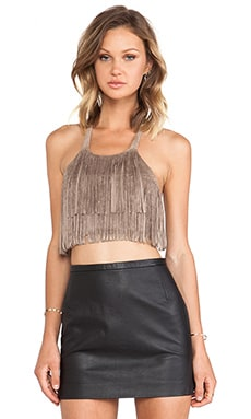 Kayley Cropped Top in Mocha