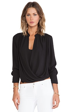 BCBGMAXAZRIA Jaklyn Blouse in Black
