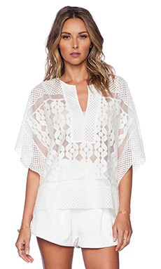 BCBGMAXAZRIA Reginah Top in Off White