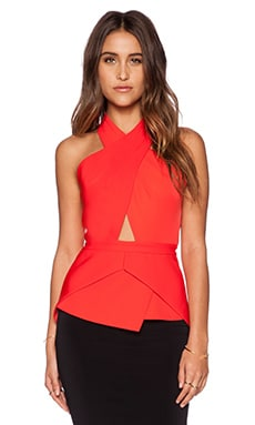 BCBGMAXAZRIA Remmie Top in Bright Poppy