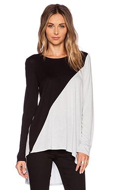 BCBGMAXAZRIA Claudia Top in Haze Combo