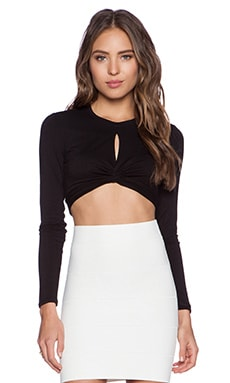 BCBGMAXAZRIA Taelor Crop Top in Black