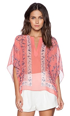 BCBGMAXAZRIA Dove Top in Light Poinsettia Combo