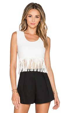 BCBGMAXAZRIA Jaleigh Top in Gardenia