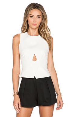 BCBGMAXAZRIA Elley Tank in Off White