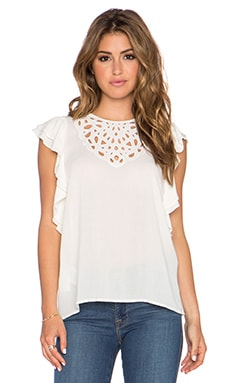 BCBGMAXAZRIA Haidee Top in Ivory
