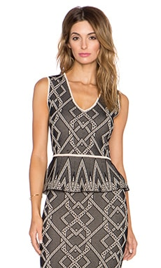 BCBGMAXAZRIA Alonya Top in Black Combo