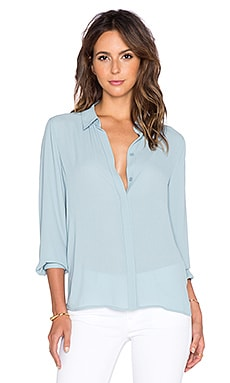 BCBGMAXAZRIA Dianna Top in Blue Frost