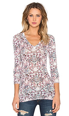 BCBGMAXAZRIA Jan Top in Begonia Combo